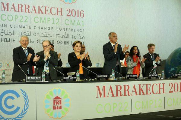 La Proclamación de Acción de Marrakech establece un proceso irreversible de acciones climaticas
