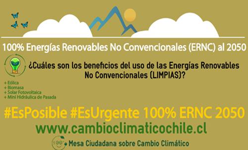 Campaña 100% ERNC al 2050 lanza su segunda infografía explicativa