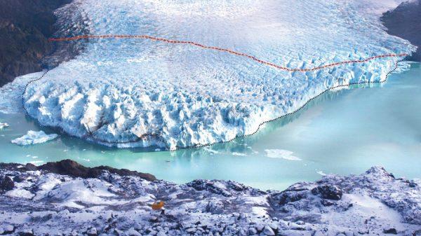 Alerta por rápido desprendimiento de hielo en Glaciar O'higgins