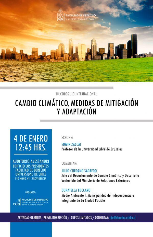 [Agenda] III Coloquio Internacional: Cambio climático, medidas de adaptación y mitigación