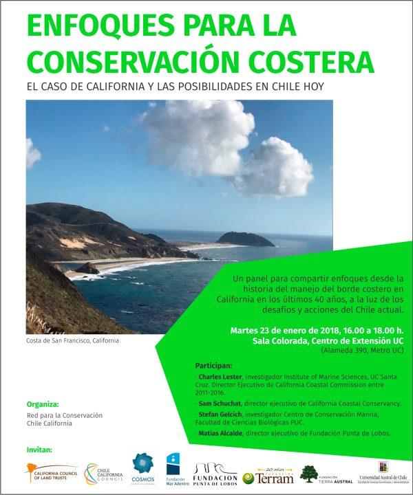 [Agenda] Enfoques para la conservación costera: El caso de California y las posibilidades de Chile hoy