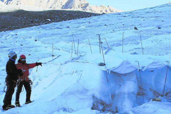 Crean estructuras para contener glaciares