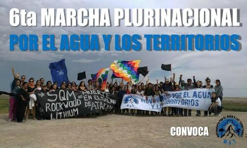 [Agenda] 6ta Marcha Plurinacional por el Agua y los Territorios