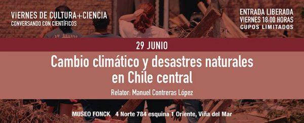 Cambio climático y desastres naturales en Chile Central
